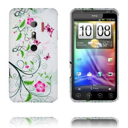 Symphony (Slim Grøn Blomster) HTC Evo 3D Cover