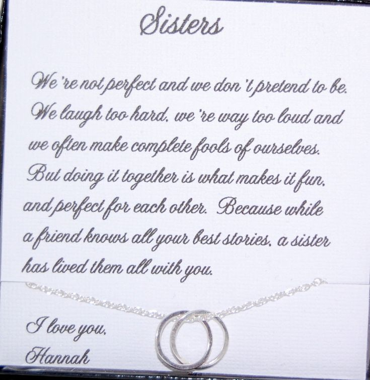 SISTERS necklace Sisters POEM Sister as Maid by SoBlessedDesigns