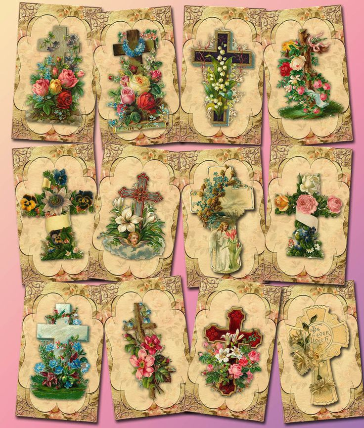 CRoSS Christian ViNtAgE ArT Hang/Gift Tags-Dusty Posh- Printable Collage Sheet JPG Digital File- BuY OnE GeT OnE FREE scrapbooking embellishment shabby chic gift label rustic bookmark JESUS SAVIOR EASTER CHURCH CHRIST BOGO thephotocube 2.50 USD