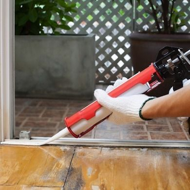 Bob's Tip of the Day: Filling gaps indoors or weatherproofing your exterior is simple with a caulk gun. To use, pull back the plunger and insert the tube. Cut the plastic applicator at a 45-degree angle to slow the flow of caulk. A softer touch on the trigger allows better control of the sealant.