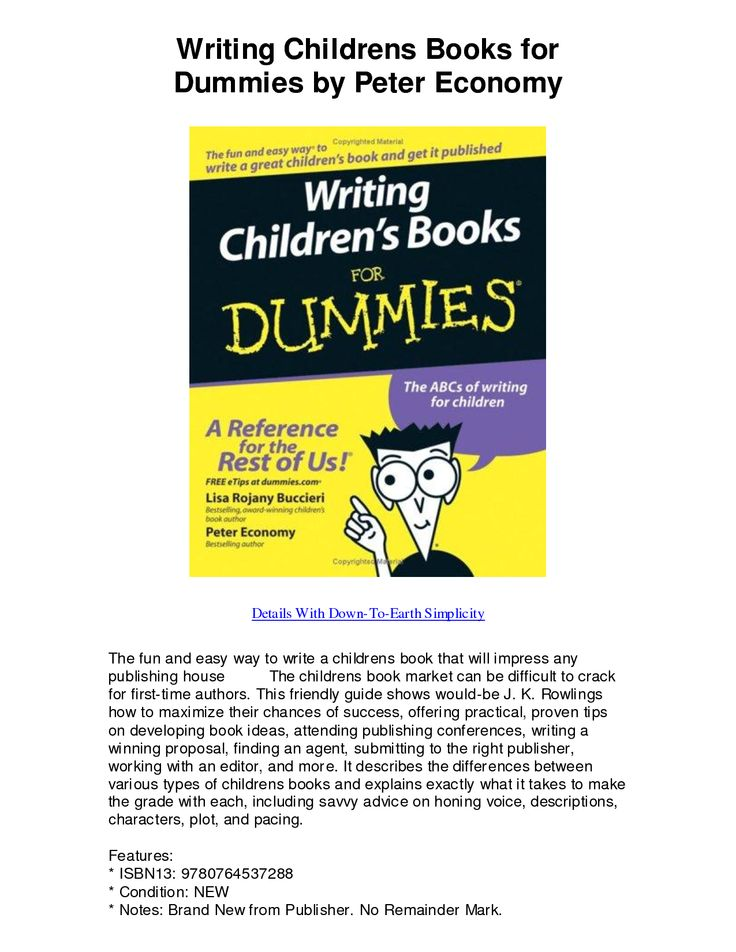 Books For Dummies How To For Dummies Childrens Books