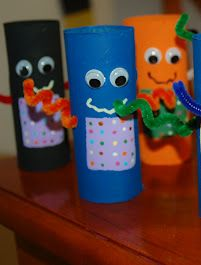 DIY Toilet Paper Tube Recycled Robots - Craft for Kids