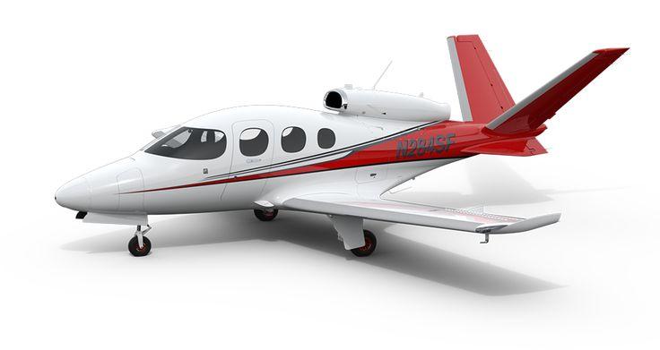 Cirrus Vision Jet: $2,000,000 and seats 5. It even has a whole plane parachute!
