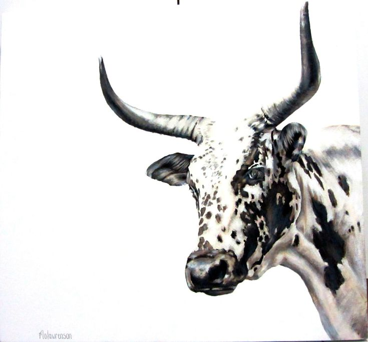 Nguni painting- Acrylic on canvas