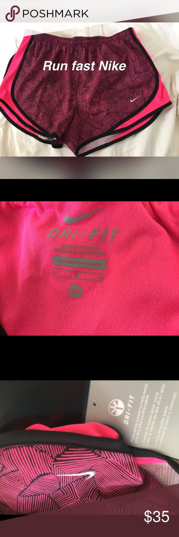 Nike NWT Women's dry fast electric-hot pink shorts Nike women's hot pink running shorts, lined, NWT size M. Tempo Equilibrium shorts. Nike Shorts