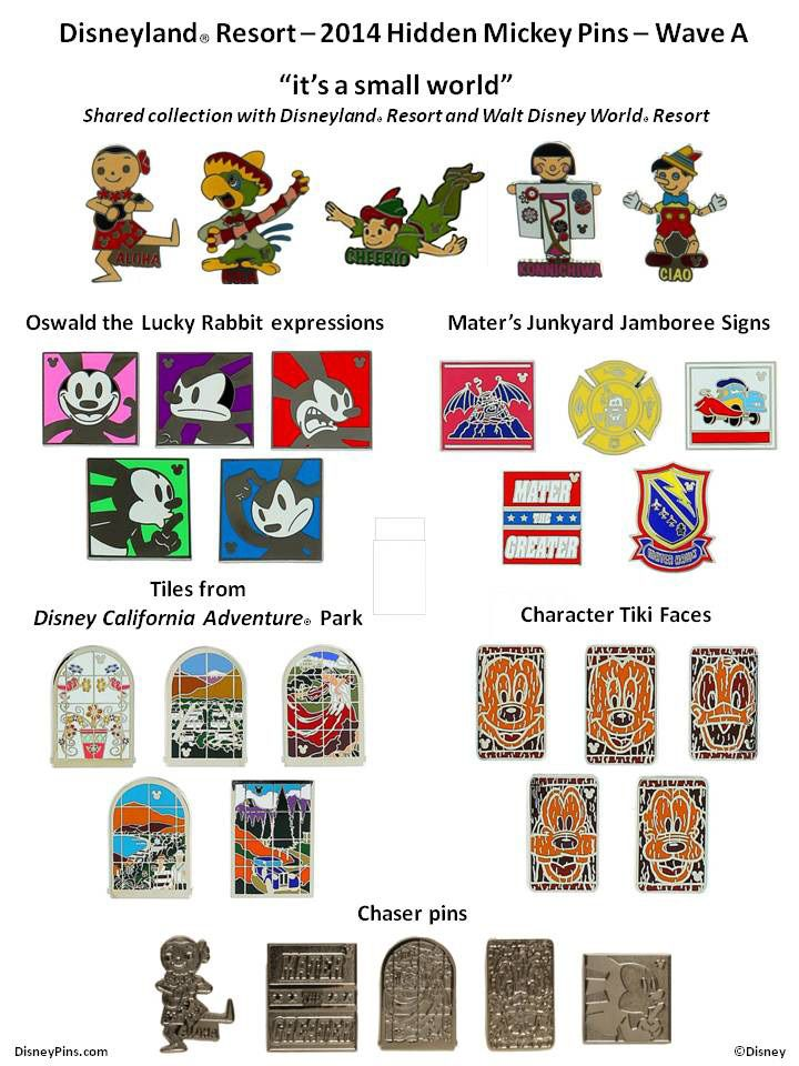 I like the Oswalds. New Hidden Mickey Pins Arriving Soon at Disney Parks for 2014 « Disney Parks Blog