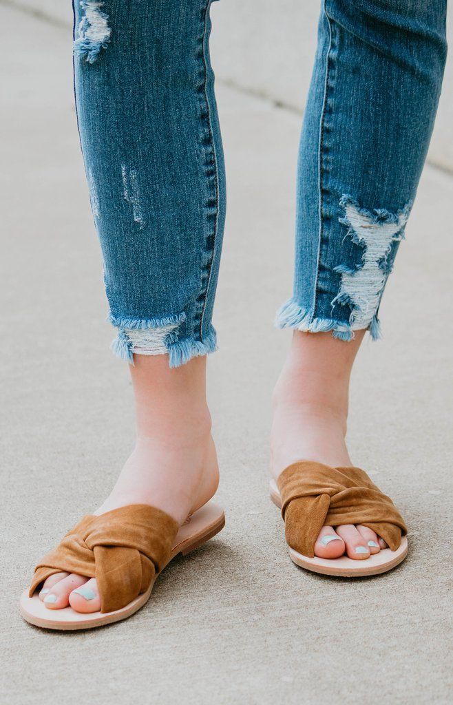 a9aab4356a1d Free People  Rio Vista Slide Sandal - Brown in 2019