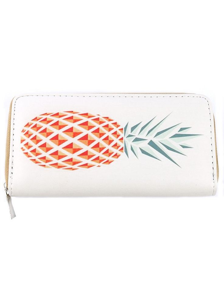 PINEAPPLE PRINT VINYL WALLET