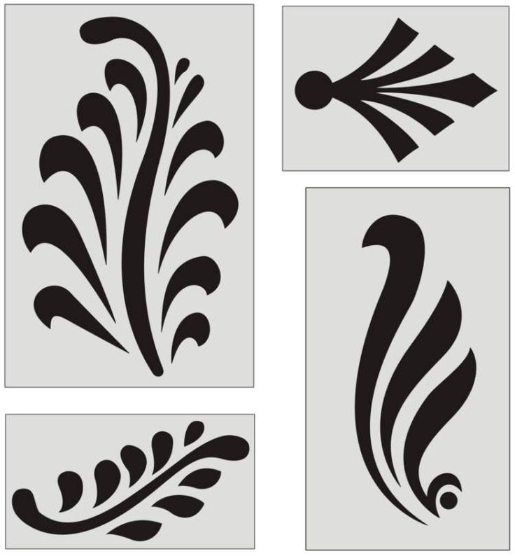 Ornamental design elements. Would this be too difficult to use as cutout to paste on?