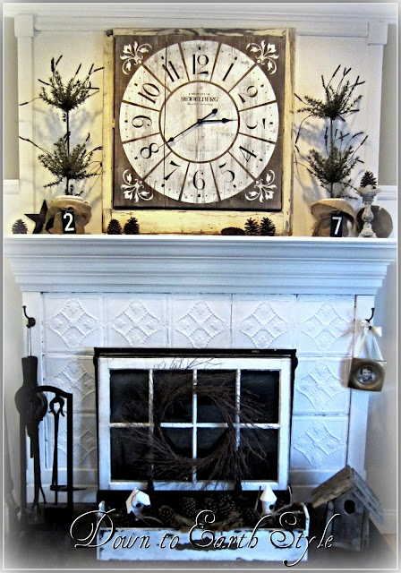 The old window could cover an ugly unused fireplace insert - Ideas to cover fireplace opening ...