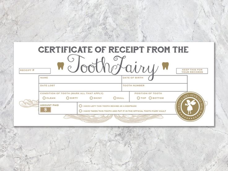 60 best Tooth Fairy ✨ images on Pinterest Tooth fairy, Faeries - downloadable receipt