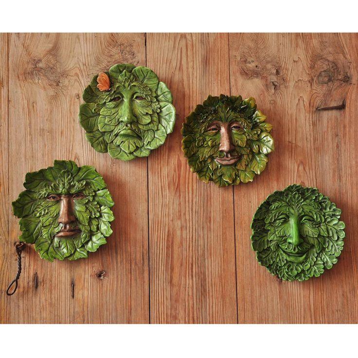 Amazon.com : Top Collection Garden Spirit Green Man Hanging Plaque, Large : Patio, Lawn & Garden