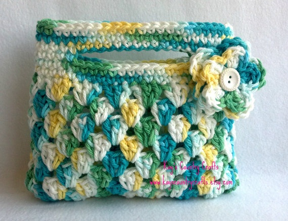 crochet spring purse