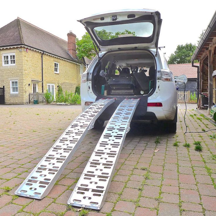 Pair of Folding Loading Ramps 2200mm long, 230mm wide, capacity 640kg in Vehicle Parts & Accessories, Motorcycle Accessories, Trailers, Ramps & Tow | eBay