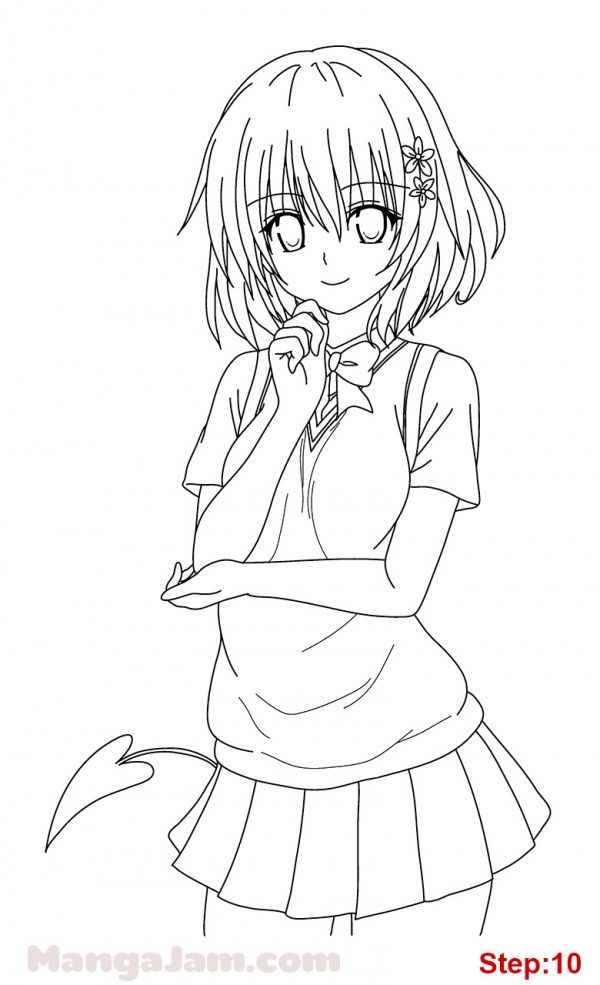 How to Draw Momo from To Love Ru | how to draw manga 3d