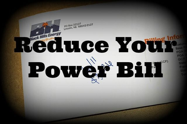 Reduce Your Power Bill – Every Penny Counts – Back 2 Simple Life