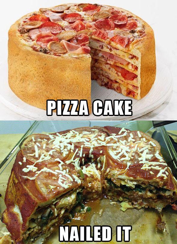 Multilayered Pizza Bundt Cake Pie Pizza Food Pizza Cake