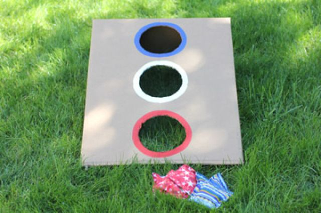 Bean Bag Toss - Could be done with a cardboard box.