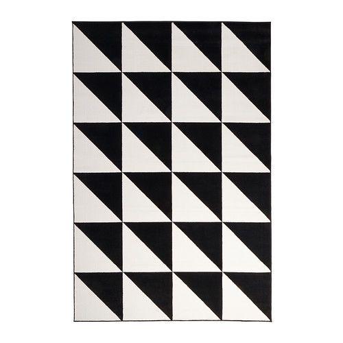 SILLERUP Teppe, kort lugg, svart/hvit