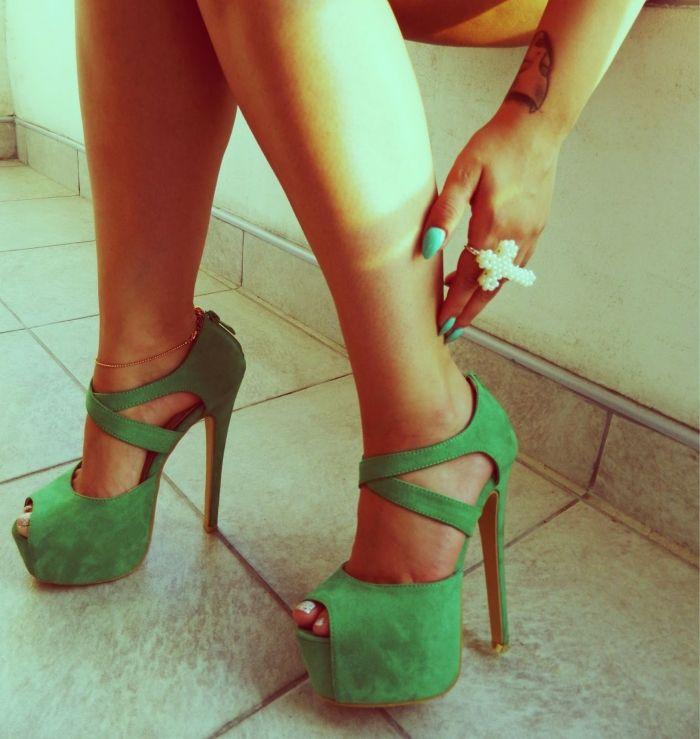 Green High Heels - HeelsFans.com
