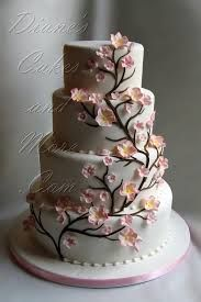 tree flowery decorated cake.