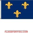 High Wind, US Made French Fleur-de-Lis Flag 5x8