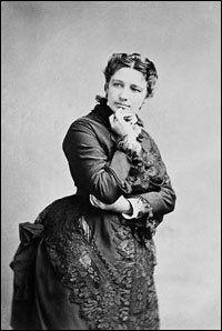 Victoria Claflin Woodhull, circa 1872.