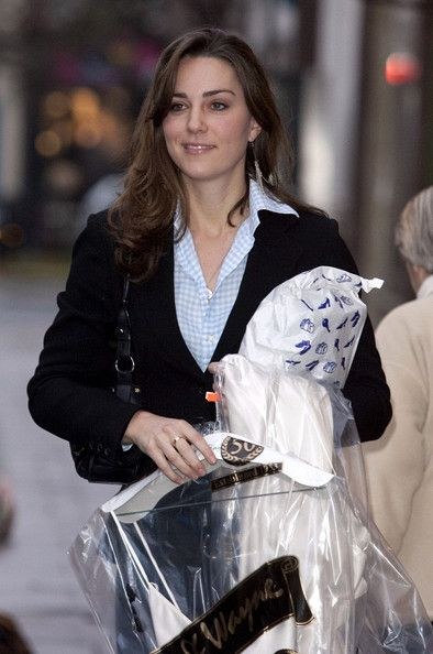 Kate Middleton picking up her dry cleaning In Bicester Village December 1, 2006.