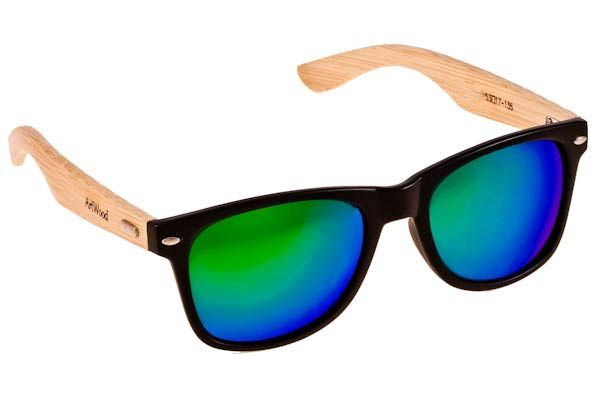 Γυαλια Ηλιου  Artwood Milano Bambooline 2 MP200 Black Green Mirror Polarized - bamboo temples Τιμή: 100,00 € #eyeshopgr #artwoodmilano