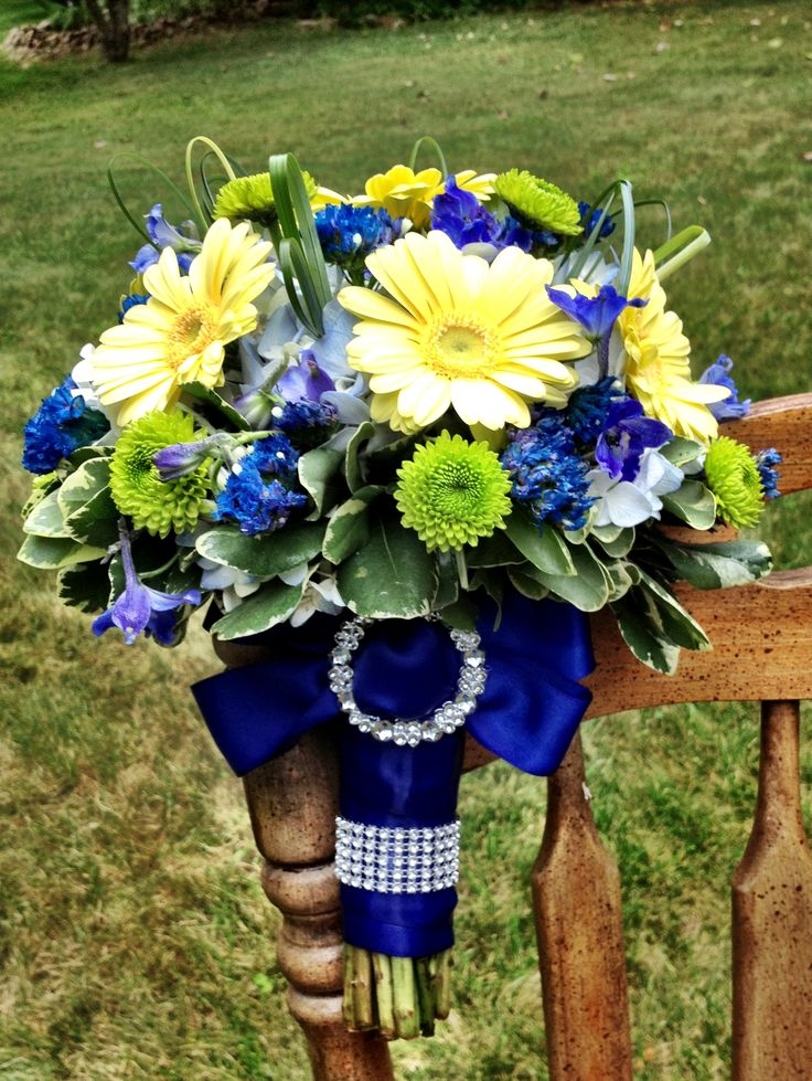 Royal Blue wedding flower bouquet, bridal bouquet, wedding flowers, add pic source on comment and we will update it. www.myfloweraffair.com can create this beautiful wedding flower look.