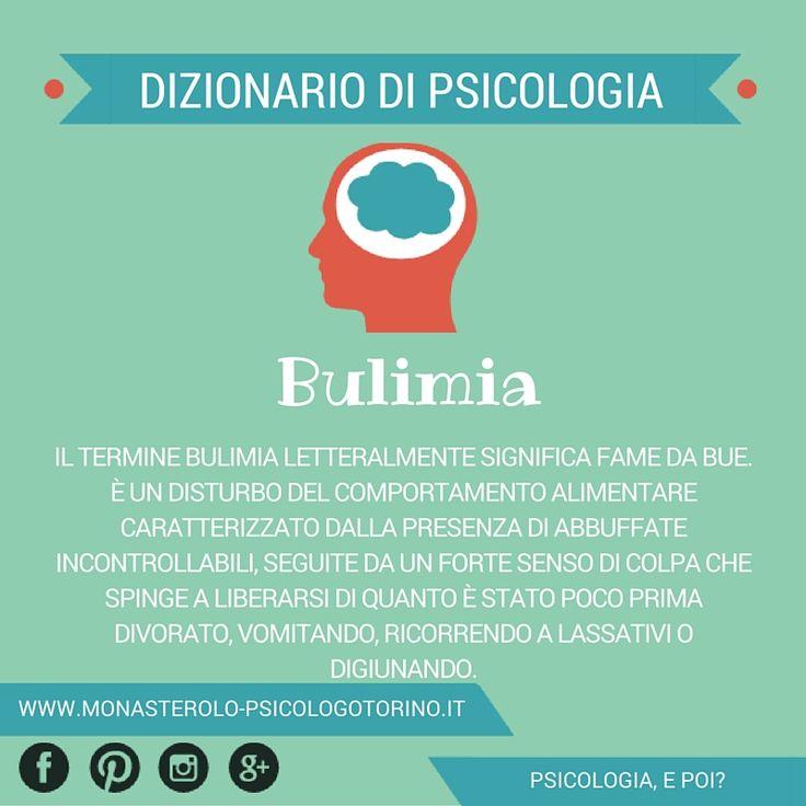 Dizionario di #Psicologia: #Bulimia.