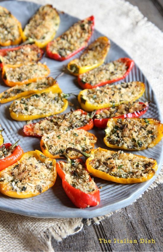 Stuffed Mini Peppers | The Italian Dish | Bloglovin'