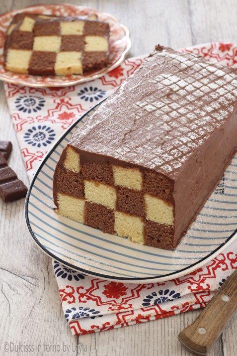 Torta a scacchi a forma di plumcake passo passo Dulcisss in forno by Leyla