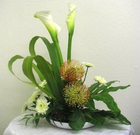 protea and calas, simply pretty