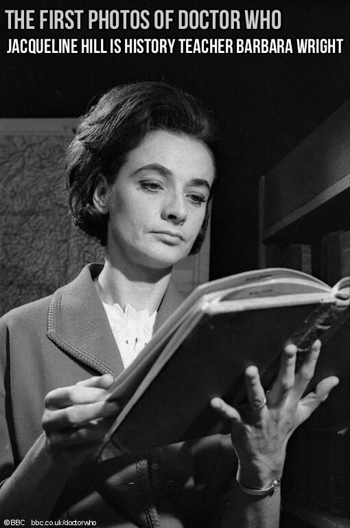 Jacqueline Hill - first photographs of DW