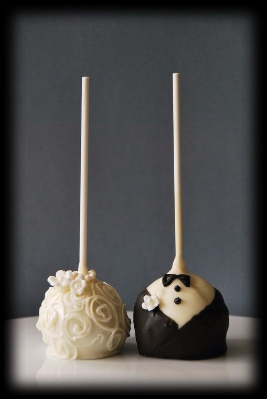 adorable wedding cake pops