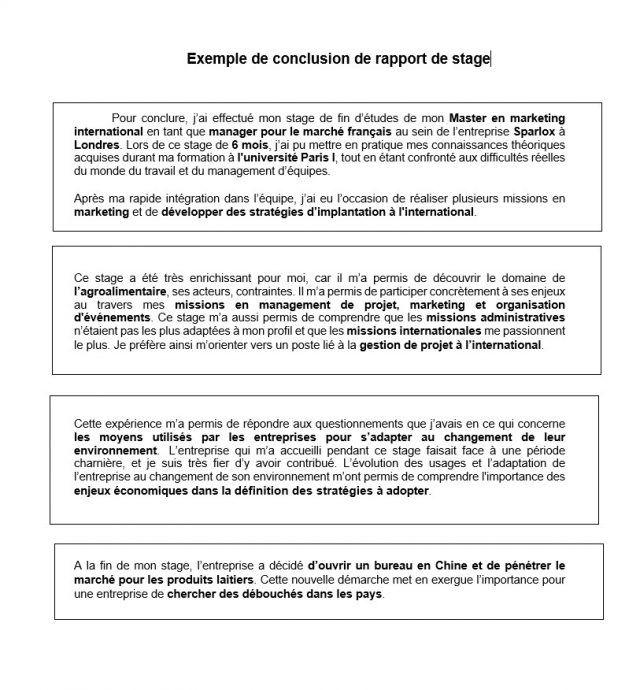 15 Exemple De Bilan De Stage Identite Comtoise Rapport De Stage Stage Conclusion