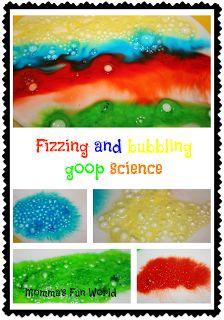 Momma's Fun World: Erupting Kool-Aid ice science and art