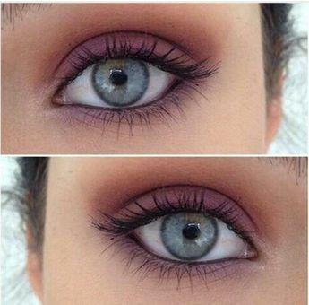 smokey eye make up pour yeux bleus, apprendre a se maquiller des yeux