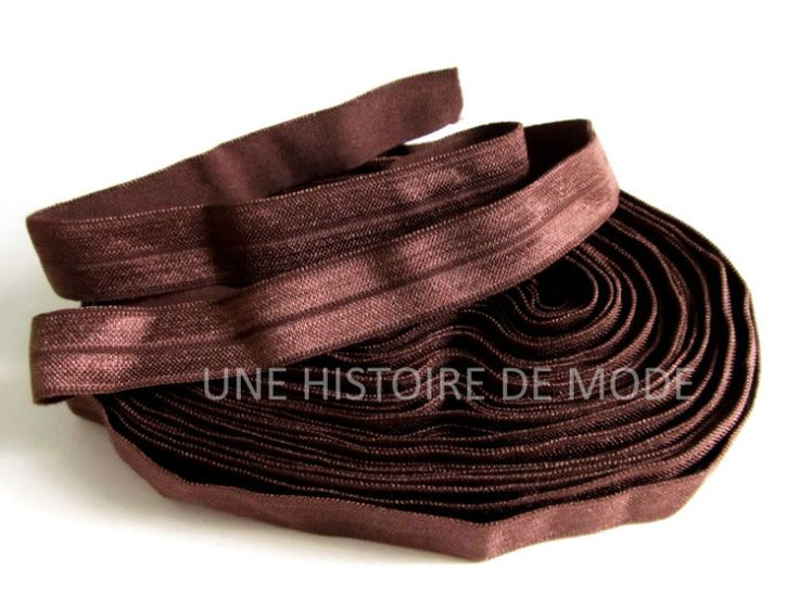 1M de ruban élastique marron - 15 mm de largeur - ruban stretch