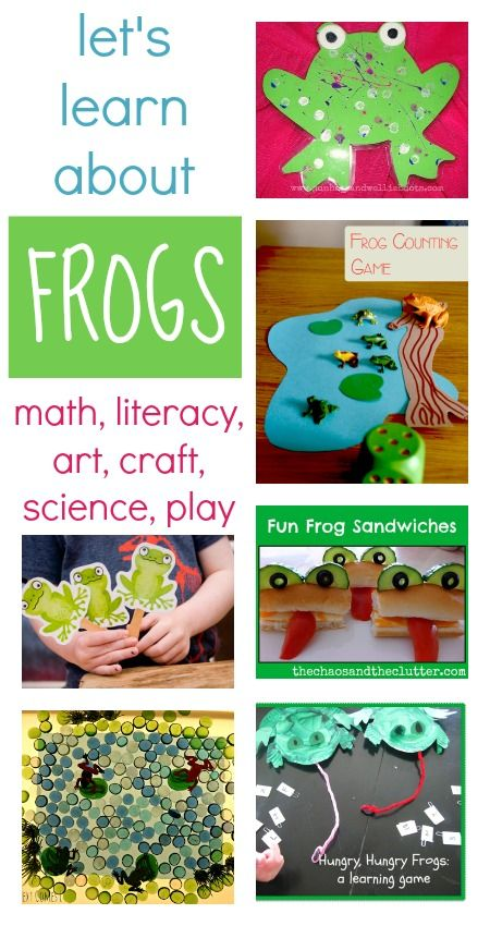 These frog activities will give you lots of ideas to explore art, math, literacy and science with your children this spring.