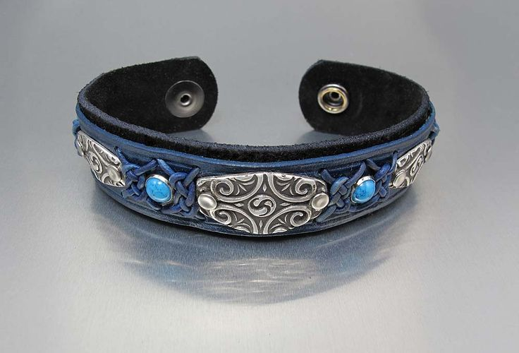 Metal Clay & Leather Cuff taught by Lisa Barth