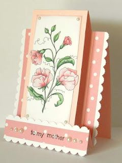 Beccy's Place. Lovely stepper card with template and instructions                                                                                                                                                                                 More