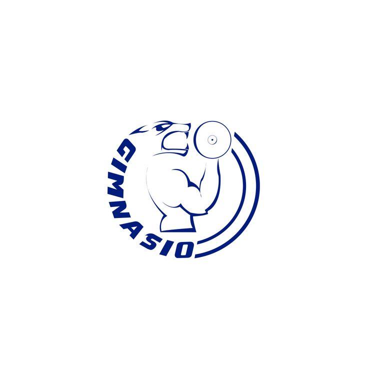 """Primer premio del concurso: """"Logo para el gym del polideportivo de GELP""""."""