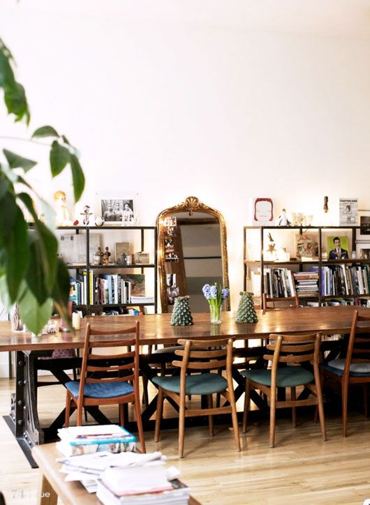 Warm Neutral Industrial Bohemian Vintage Dining Room Nest