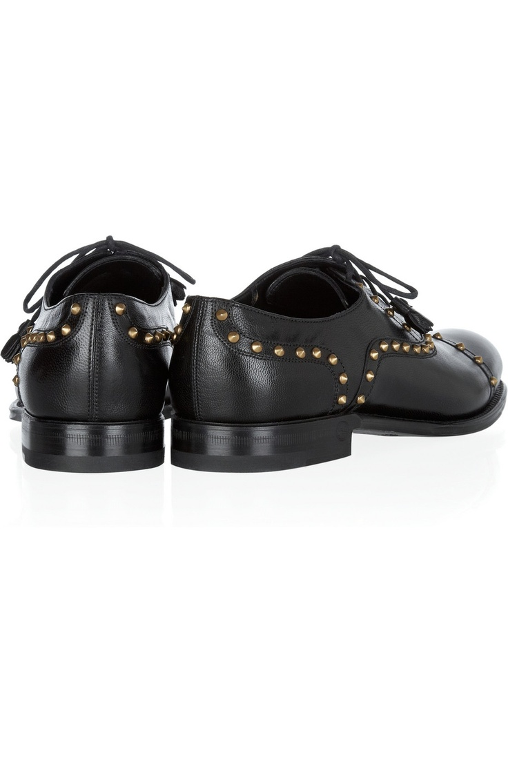 Gucci | Studded leather brogues | NET-A-PORTER.COM