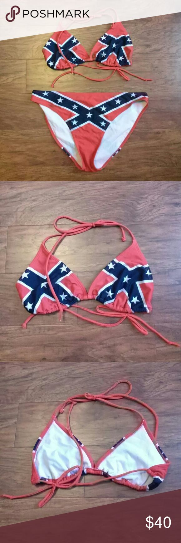 Selling this Rebel Flag Bikini on Poshmark! My username is: kristenlynnb. #shopmycloset #poshmark #fashion #shopping #style #forsale #Other