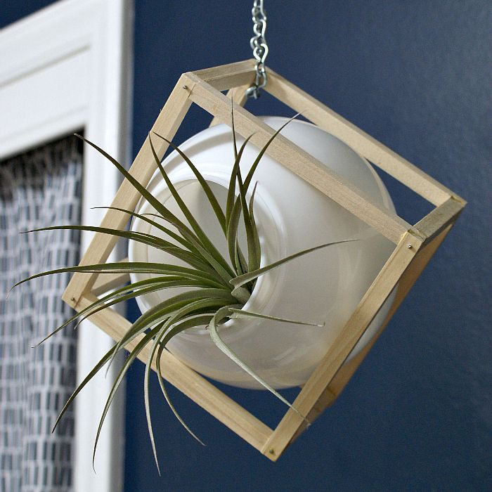 Turn a Light Globe into a Chic Planter! - I wanted to add some air plants to our kiddo's room, but I didn't want to shell out for fancy schmancy glass globes. I…