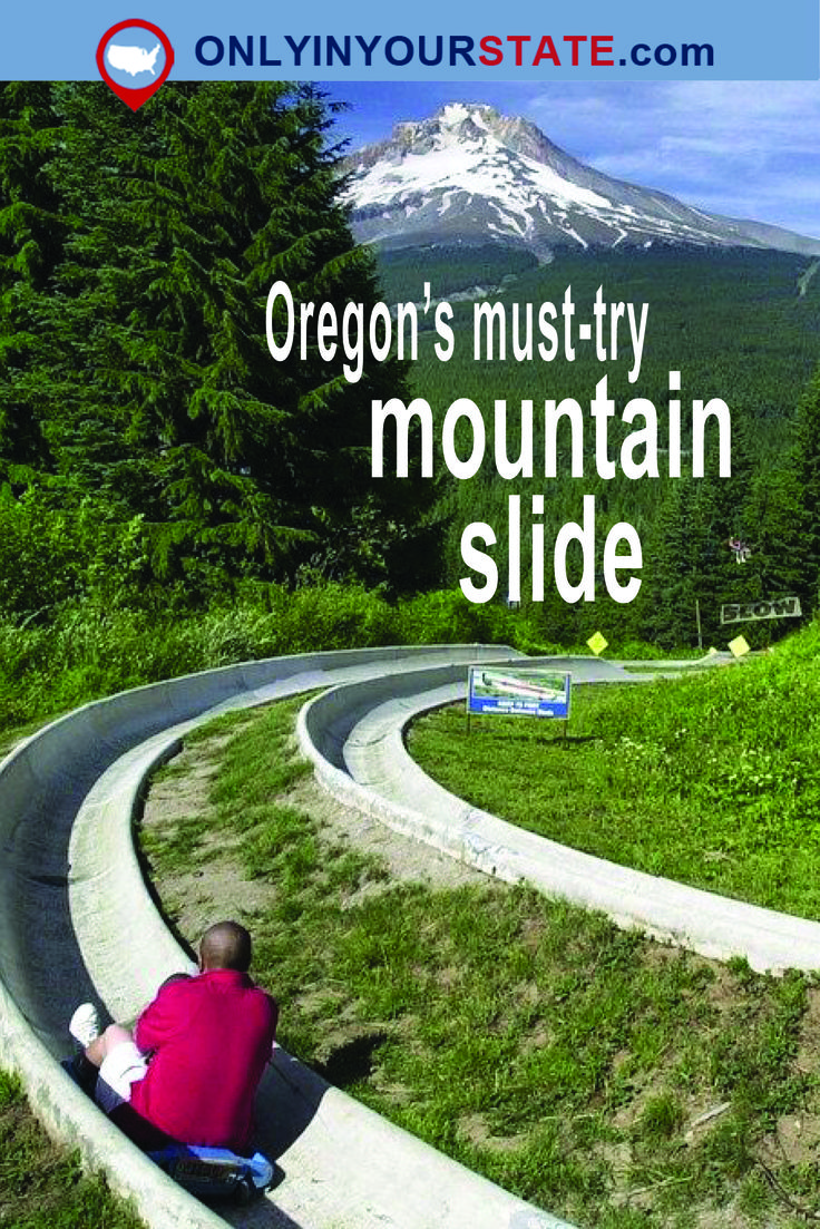 Travel | Oregon | Mountain Slide | Unique | Activities | Mt. Hood | Mountain | Springtime | Summer | Weekend | Thrilling | Adventure | Picturesque | Things To Do