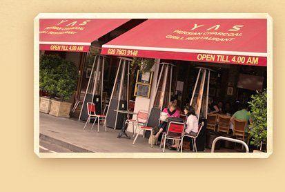 YAS Persian Restaurant in Kensington-Olympia London, England. Fantastic food!